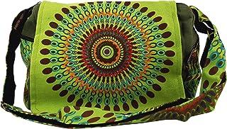 GURU SHOP Schultertasche, Hippie Tasche, Goa Tasche - Braun, Herren/Damen, Baumwolle, 23x28x12 cm, Alternative Umhängetasc...