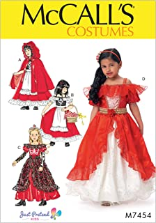 McCall's M7454 Girl's Fantasy Dress Costume Sewing Pattern, Sizes 3-8