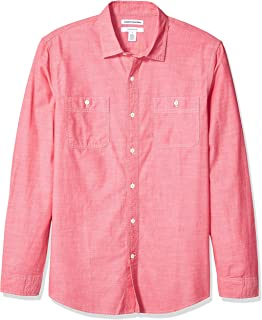 Amazon Essentials Men's Slim-fit Long-Sleeve Chambray Shirt