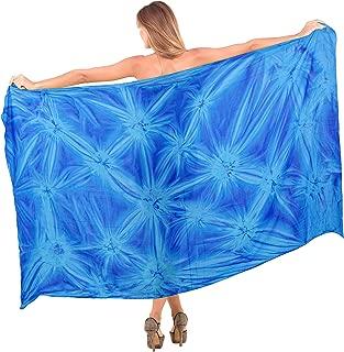 Women One Size Swimsuit Cover Up Summer Beach Wrap Skirt Hand Tie Dye B