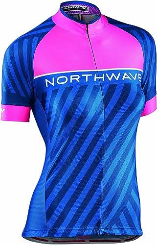 Maillot Northwave Logo 3 Bleu-Rose Femme 2017