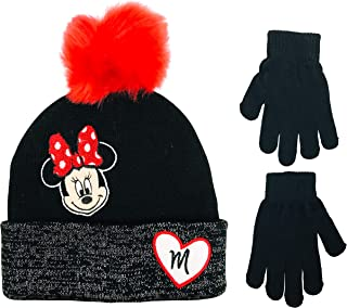 Disney Minnie Mouse Girls Winter Hat and Gloves Cold Weather Set, Age 4-7