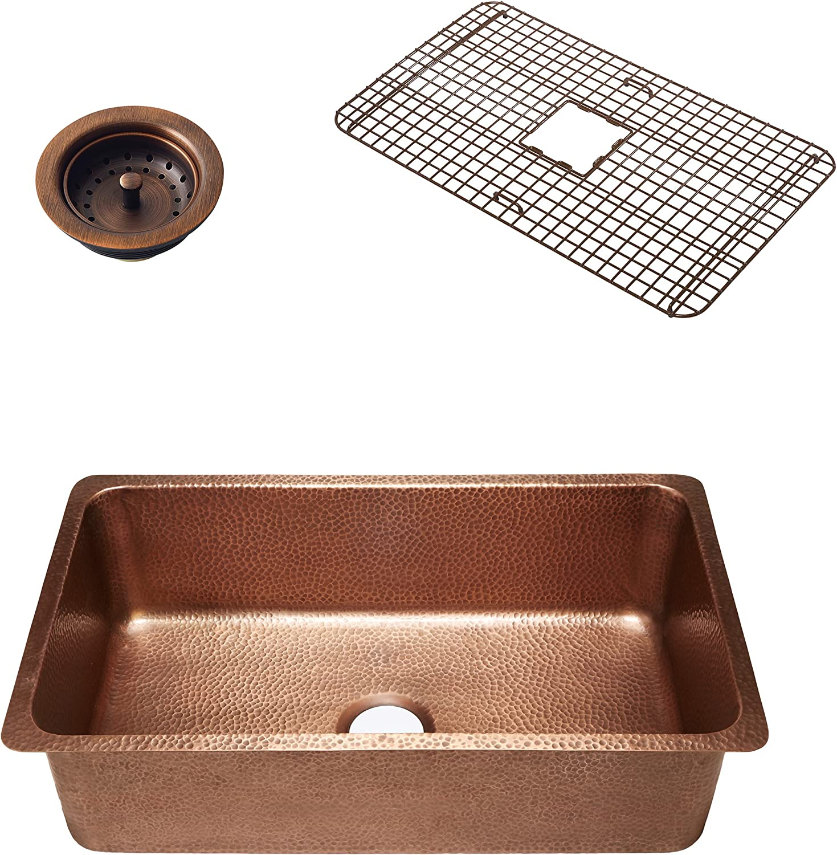 Sinkology SK203-31AC-WG-B David Undermount Kitchen Sink 31.25
