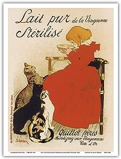 Pacifica Island Art Sterilized Milk - Vintage Advertising Poster by Théophile Alexandre Steinlen c.1894 - Master Art Print - 9 x 12 in