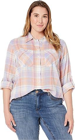 ada52213 Search Results. New. Lavendar Multi. 1. LAUREN Ralph Lauren. Plus Size  Plaid Crinkled Cotton Shirt