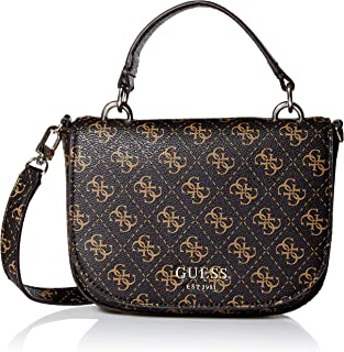 GUESS womens Logo Rock Mini Crossbody Flap