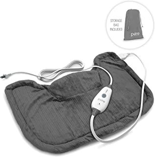 Pure Enrichment PureRelief Neck and Shoulder Heating Pad (Charcoal Gray) –..