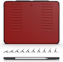 The Muse Case - 2018 iPad Pro 12.9 inch - Very Protective But Thin + Convenient Magnetic Stand + Sleep/Wake Cover by ZUGU CASE (Red 2018 iPad Pro 12.9 Gen 3)