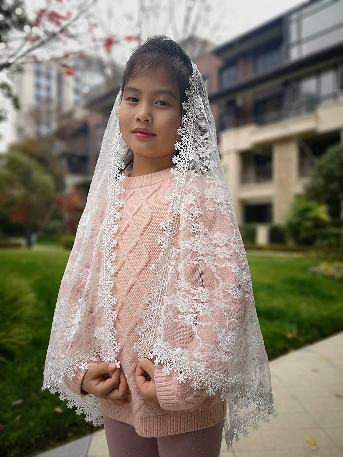 Rectangle Headcovering First Communion Veils Church Chapel for Girls