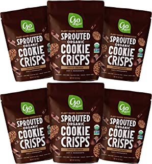Go Raw Organic Cookie Crisps, Choco Crunch, 3 oz. Bags (Pack of 6) — Superfood | Paleo | Gluten Free Snack Crisps | Vegan