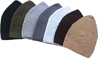 7X Islamic Muslim Knitting Kufi Topi Prayer Hat Crochet Taqiyah Takke Skull Cap