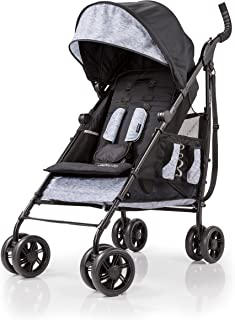 Summer 3Dtote Convenience Stroller, Black/Grey – Lightweight Stroller with Extra Storage Basket, Rear Storage Extension, Diaper Hooks, Cup Holders and More - Compact Fold for Storage and On-The-Go