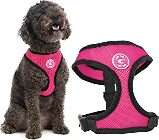 Gooby - Soft Mesh Harness, Small Dog Harness with Breathable Mesh, Flamingo Pink, Large