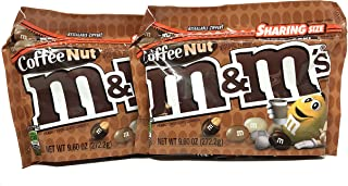 M&M's Peanut Special (Coffee Nut) Flavors 9.6 oz Resealable Zipper Bags Sharing Size (Pack of 2)