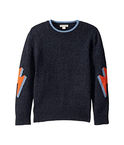 crewcuts by J.Crew Bolt Crew Neck Sweater (Toddler/Little Kids/Big Kids) (Bolt Navy/Neon Multi) Boy