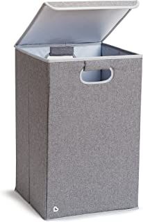 Munchkin Laundry Hamper with Lid, Grey