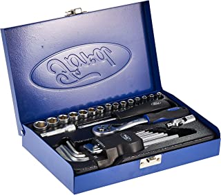 Ford Tools 28 Piece 1/4 Inch Drive Socket Set, FMT-034, Chrome