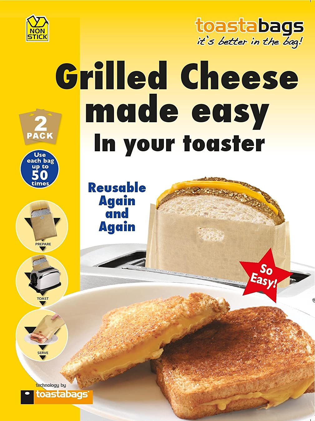 Toastabags - Grilled Chee Size 2ct Toastabags - Grilled Cheese 2ct