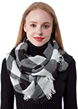 Seven Flowers Plaid Knitted Infinity Scarves for Women