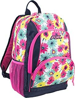 Fuel Girls Multi Pocket Deluxe School Backpack, Casual Daypack, Multipurpose Bag