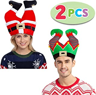 JOYIN Christmas Santa and Elf Pants Hats for Funny Hilarious and Festive Christmas Party Hat Dress Up Celebrations, Winter Party Favor, Christmas Decorations, Costume Accessories
