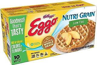 Kellogg's Eggo, Nutri-Grain, Frozen Waffles, Low Fat,Easy Breakfast, 12.3 oz Box (10 Count)