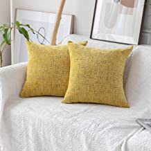 Home Brilliant Decorative Throw Pillow Covers Accent Pillow Case Striped Chenille Plush Velvet Couch Cushion Cover for Sof...
