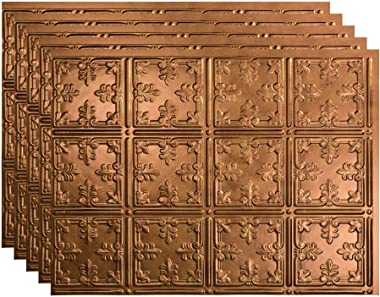 FASÄDE Traditional Style/Pattern 10 Decorative Vinyl 18in x 24in Backsplash Panel in Antique Bronze (5 Pack)