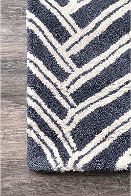 Amazon Com Nuloom Alex Hand Tufted Wool Area Rug 9 X 12 Denim Furniture Decor