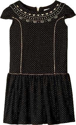 Cap Sleeve Princess Bodice Drop Waist Dress (Toddler/Little Kids)