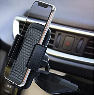 """Bestrix Bestrix Universal CD Phone Mount Cell Phone Holder for Car Compatible with All Smartphones up to 6.5"""""""