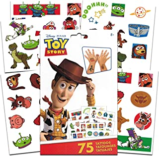 Disney Pixar Toy Story Tattoos Party Favors Pack ~ Bundle Includes 75 Toy Story Temporary Tattoos Tattoos (Toy Story Party...
