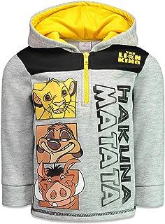 Disney Lion King Boys Fleece Half-Zip Hoodie