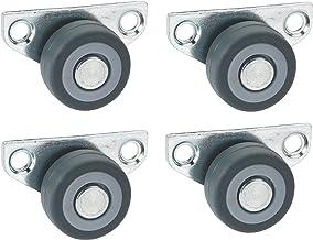 4 stuks. Parket-zijrol 30 x 14 mm TPE-wiel grijs