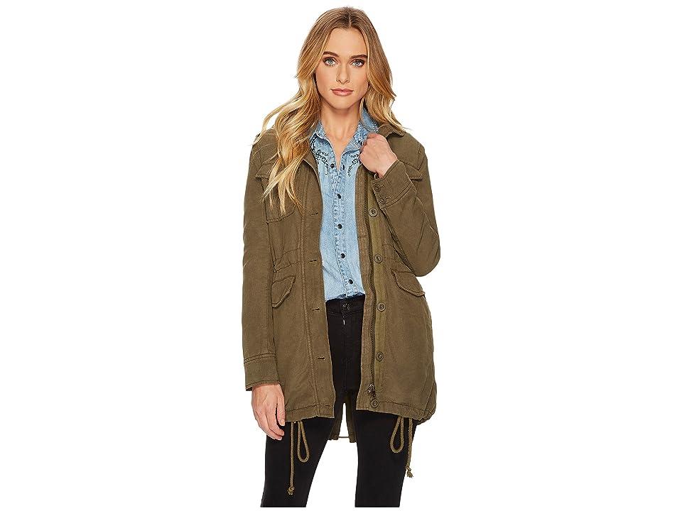 507e99b83373a Lucky Brand Military Jacket (Dark Sage) Women