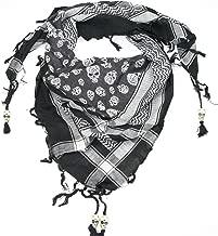 Lovarzi Skull Scarf for Men and Women - Trendy cotton square skull scarf