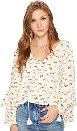 kensie - Cheetah Animal Top KS0K4330