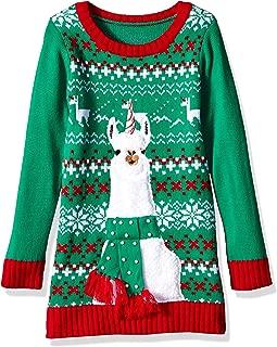 Girls Ugly Christmas Sweater Llama