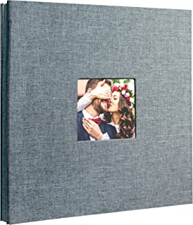 Beautyus Self Adhesive Stick Photo Album Magnetic Scrapbook DIY Anniversary Memory Book for Baby Wedding Family Albums Holds 3x5, 4x6, 5x7, 6x8, 8x10 Photos (Gray, M)
