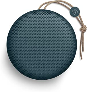 Bang & Olufsen Beoplay A1 Portable Bluetooth Speaker, Wireless Splash and Dust Resistant Speaker with Built-In Microphone, Steel Blue