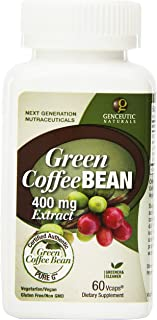 Genceutic Naturals Green Coffee Bean Extract Vegetarian Capsules, 60-Count