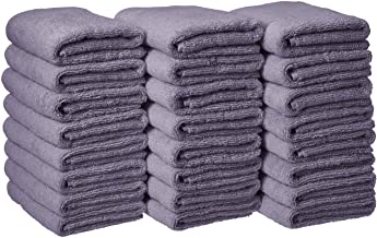 AmazonBasics Cotton Hand Towels, Lavender - Pack of 24
