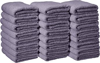 AmazonBasics Cotton Hand Towels - Pack of 24, Lavender