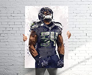 TopShelfPrints Bobby Wagner Seattle Seahawks Poster/Canvas Print - Football Artwork - Kids Room Wall Decor - Man Cave - Sports Decor - Birthday Gift Idea
