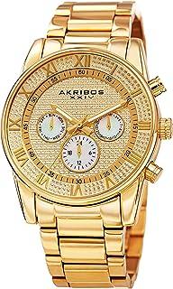 Akribos XXIV Designer Men's Watch – Stylish Stainless Steel Bracelet Wristwatch