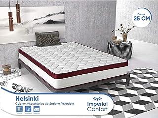 Imperial Confort Helsinki - Colchón Viscoelástico de grafeno - Doble cara (invierno/verano) - Grosor 25 cm - 90x190