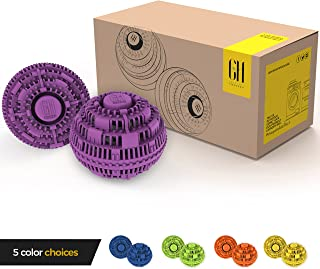 Grateful House Offer a Premium Quality Chemical Free Set of 2 Eco Friendly Laundry Balls. Never use Harsh Chemical and toxins Again with This Incredible Non Detergent Laundry System. (Purple)