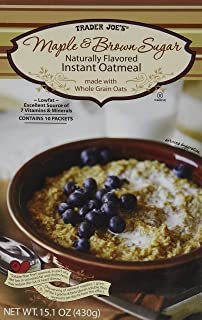 Trader Joe's Maple & Brown Sugar Naturally Flavored Instant Oatmeal