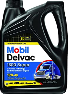 Mobil Super 96819 15W-40 Delvac 1300 Motor Oil - 1 Gallon (Pack of 4)