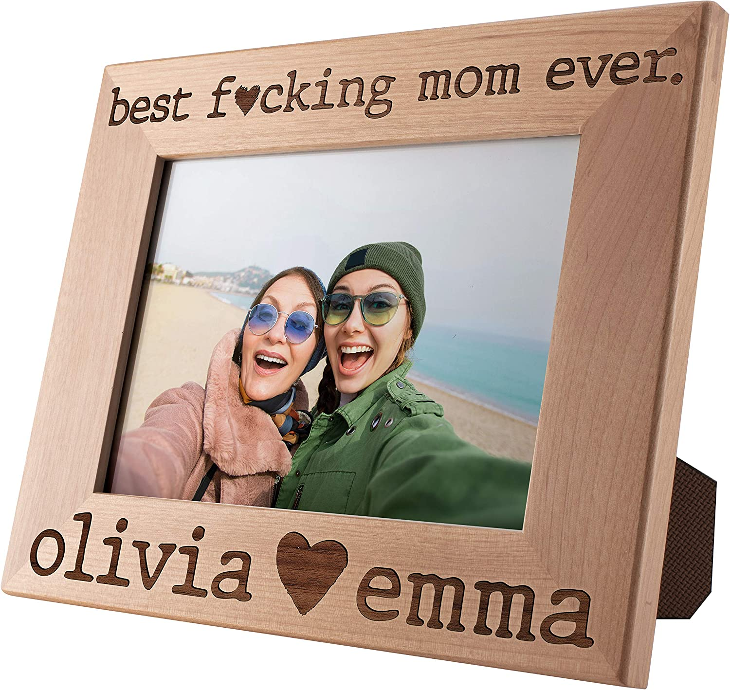 Best F Mom Ever 5☆好評 Personalized 格安 Custom 5x7 Picture Engra Frame